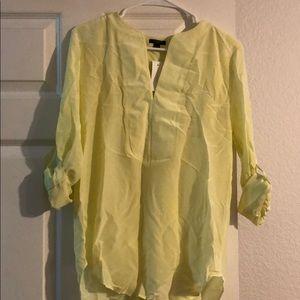 Silk light yellow top